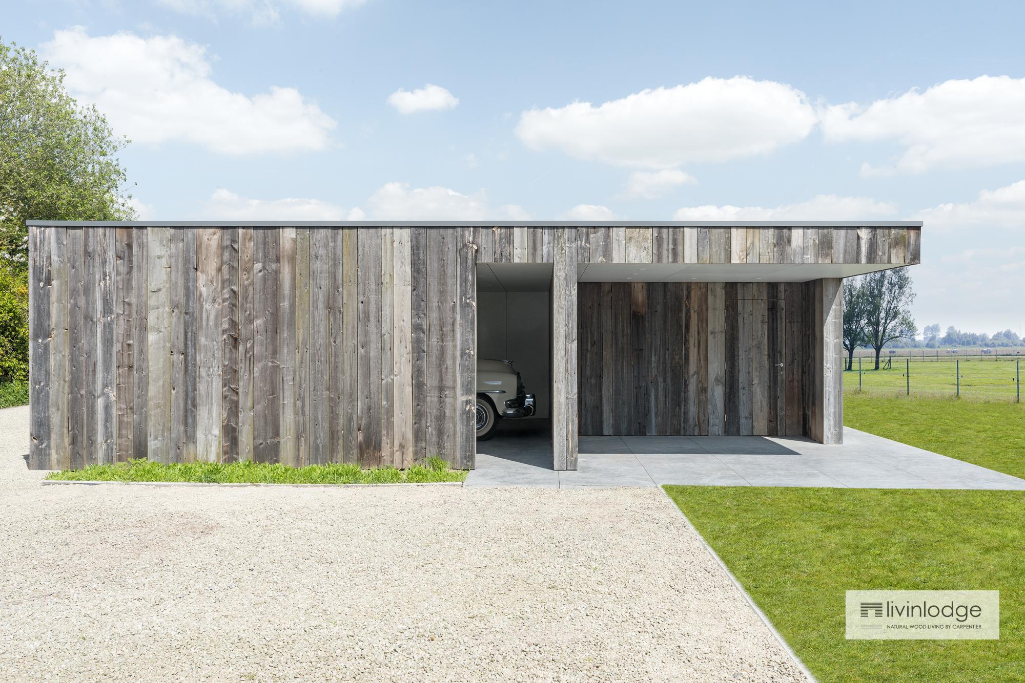 Terrasse Fermée En Bois carport double en bois avec remise et terrasse couverte à