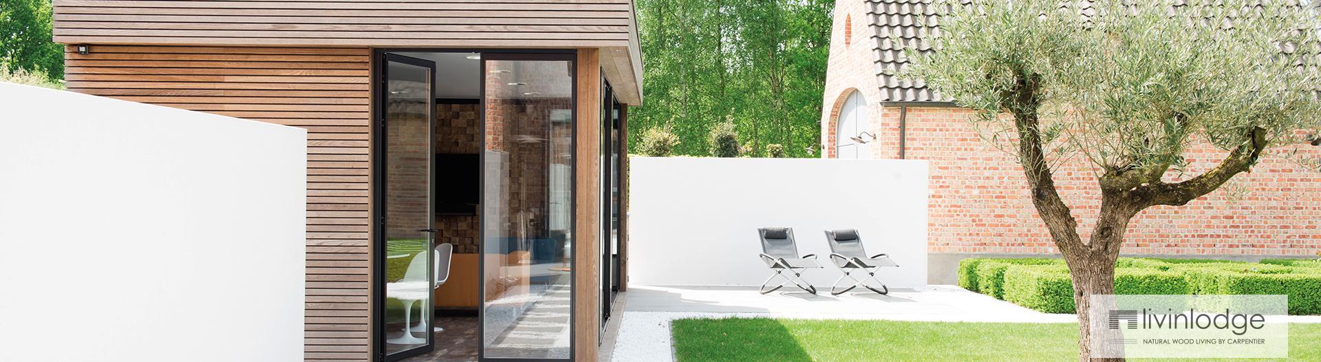 Bureau de jardin en bois moderne livinlodge for Bureau jardin