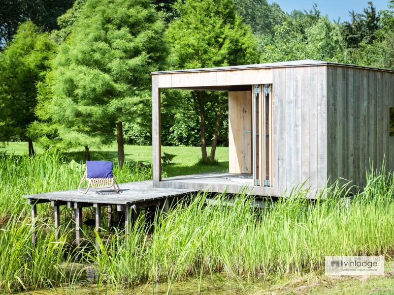 Lake Cabin in eiken, regio Brugge