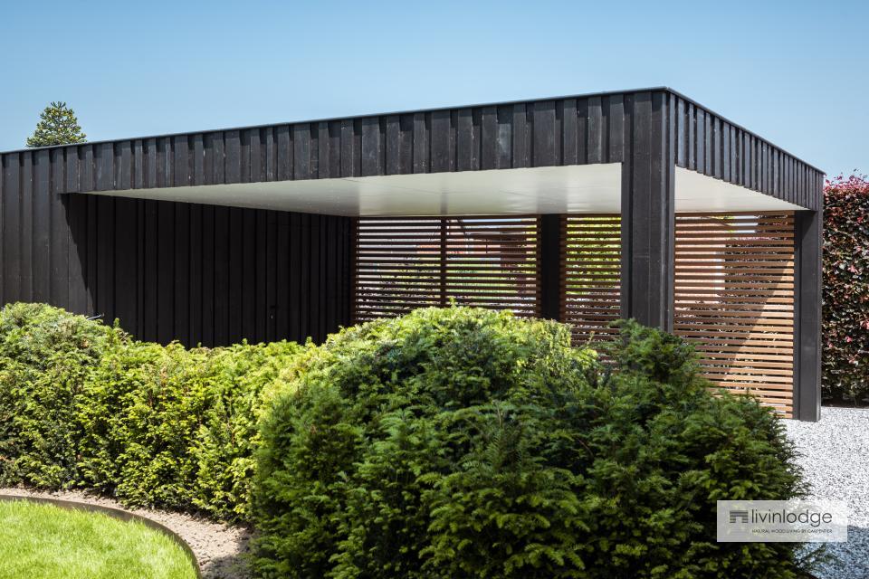 Carport moderne avec brise-soleil