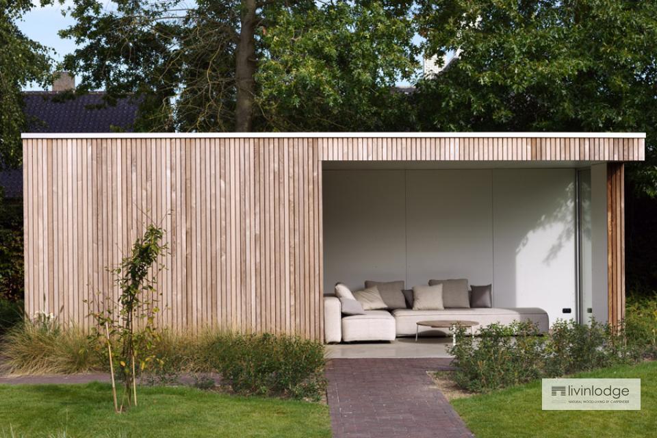 Abri de jardin moderne avec espace lounge à Roulers