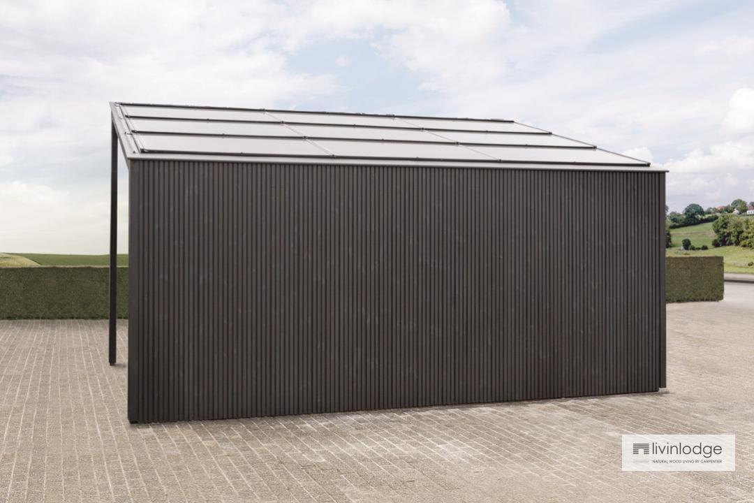 Carports modernes solaires - Annexes en bois sur mesure