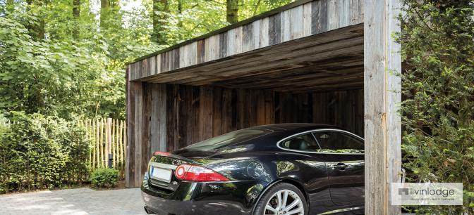 Carport en bois moderne